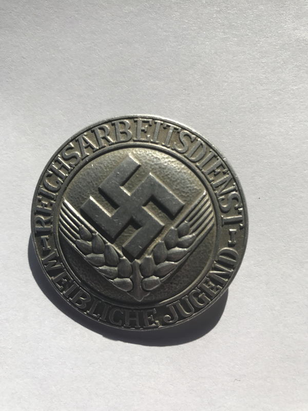 Reichsarbeitsdienst der weiblichen Jugend Brosche für Kriegshilfsdienst